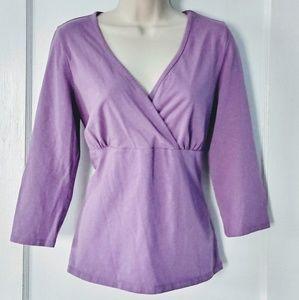 Chadwicks Purple Long Sleeve Top Med